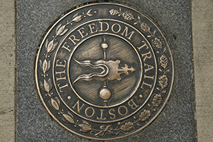 2.5 mile Freedom Trail in Boston