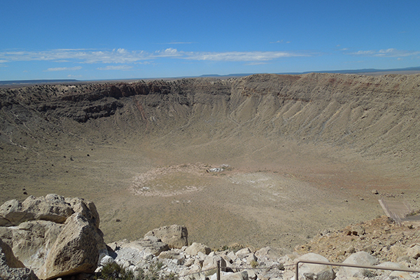 the 50,000-year impact site of Meteor Crater, Winslow