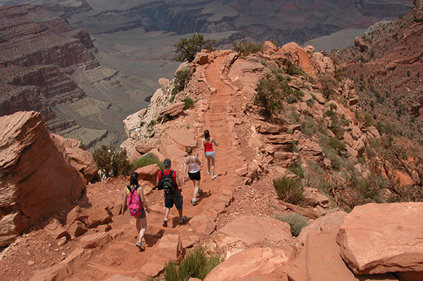 hiking the upper portion of the South Kaibab Trail, Grand Canyon National Park