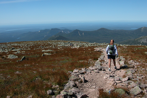 hiking on Katahdin's tablelands, Baxter State Park
