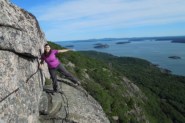 the steep (but incredibly fun) Precipice Trail in Acadia National Park