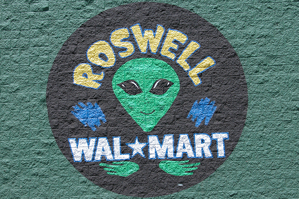 Walmart sign in Roswell