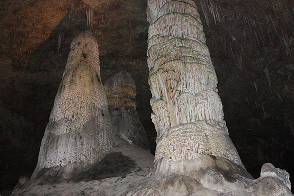 cave formations in the Big Room of Carlsbad Caverns National Park