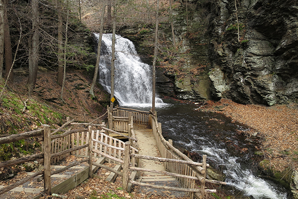 another waterfall within the Bushkill Falls park, Bushkill