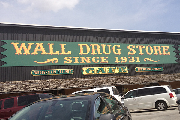 the infamous Wall Drug Store, Wall, South Dakota