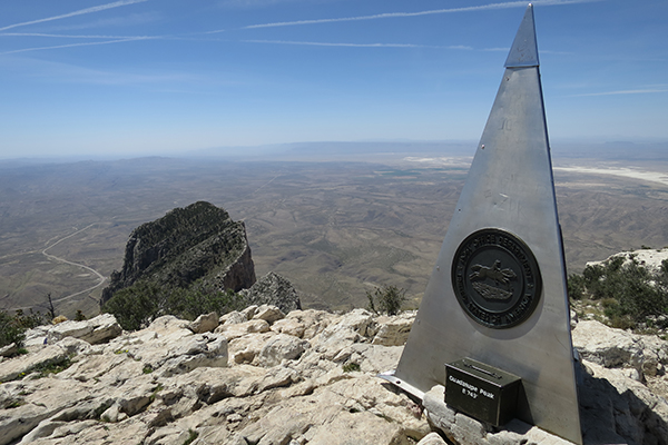 the top of Texas, Guadalupe Peak, Guadalupe Mountains National Park