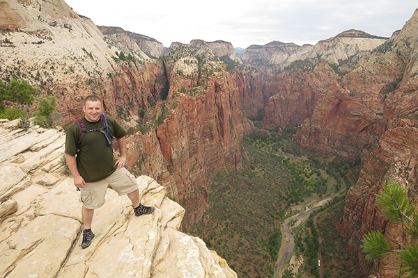 view from near the top of Angels Landing, Zion National Park