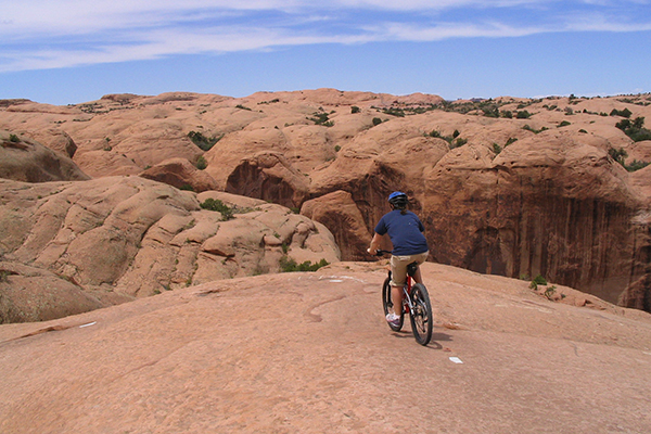 Mountain biking the Slickrock Trail, Moab