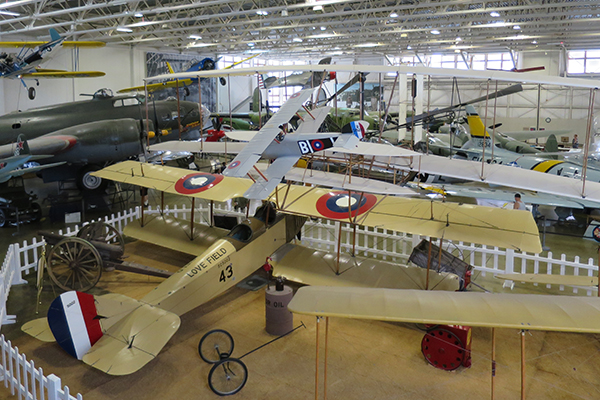 historic aircraft in the Hill Aerospace Museum