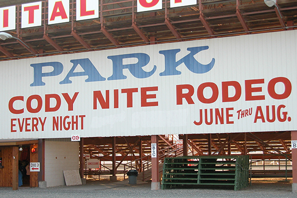 nightly rodeo in Cody, Wyoming