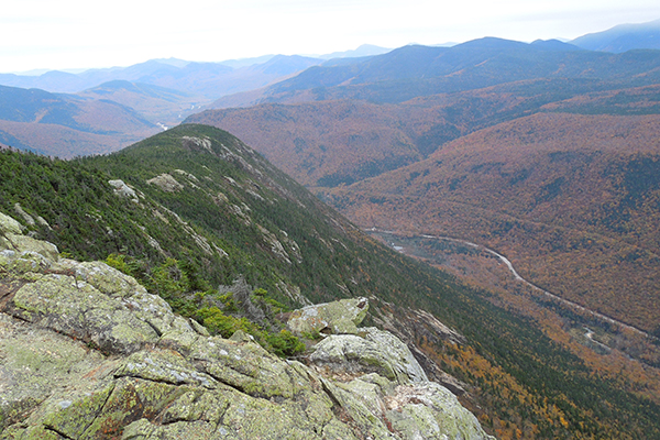 Views from the Webster Cliffs during foliage, Crawford Notch State Park, New Hampshire