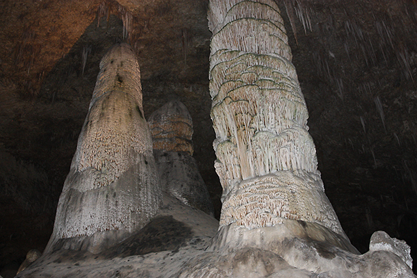 Big Room cave formations, Carlsbad Caverns National Park