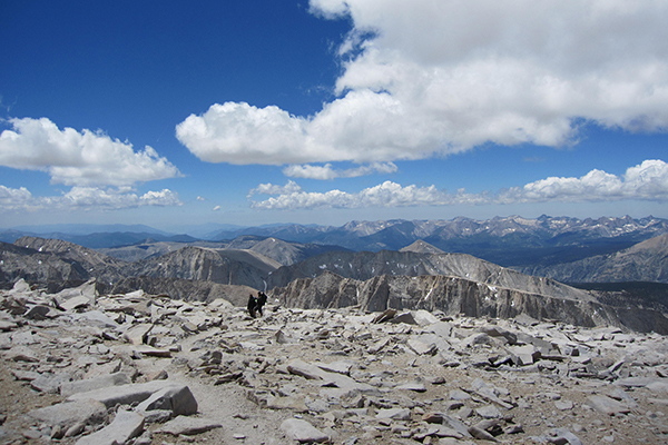 views from the summit of Mt. Whitney, California