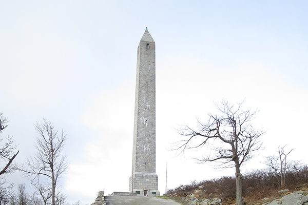 monument at the top of High Point State Park, New Jersey