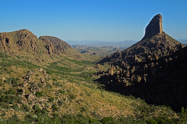 view of Weaver's Needle from the Peralta Trail, Tonto National Forest