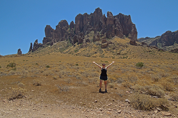 on the way to the Flatiron, Lost Dutchman State Park